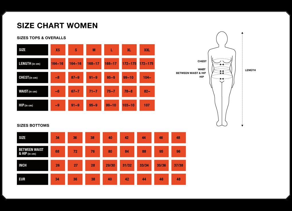 Tableau des tailles femmes